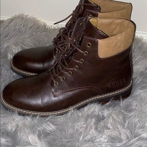 Guess Combat Boots Fur Lined Brown